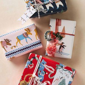 Anthropologie George Viv Very Merry Wrapping Paper